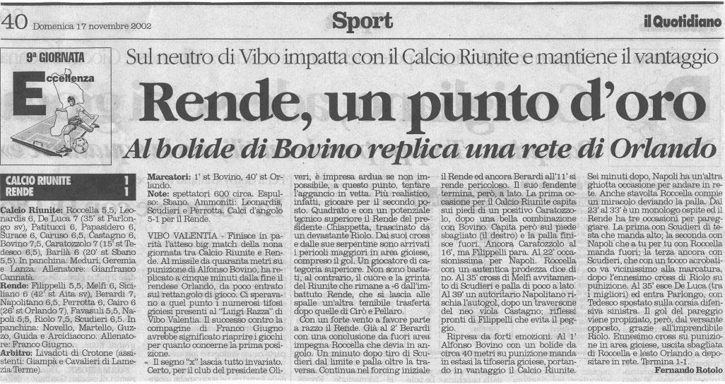 l'articolo de il Quotidiano della Calabria